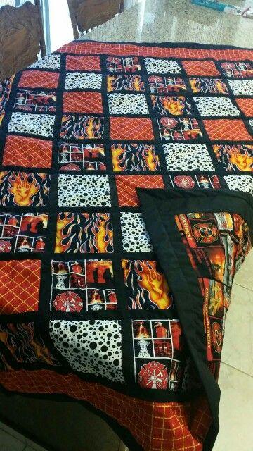 Fireman masculine quilt