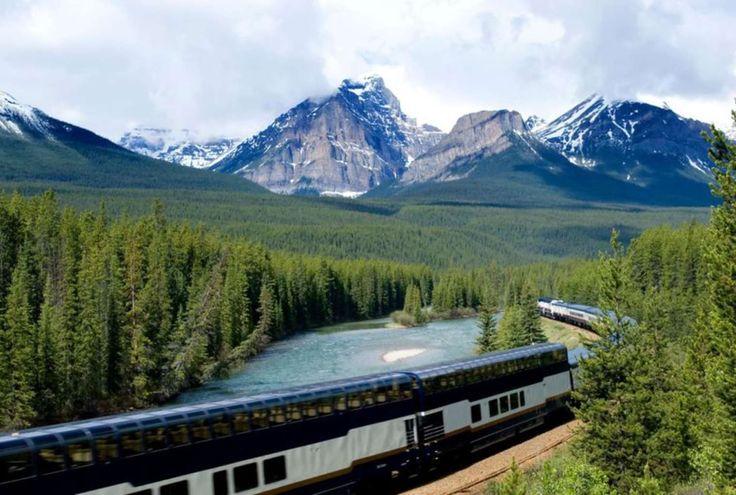 Met de Trans Canada reis je dwars door de Rocky Mountains