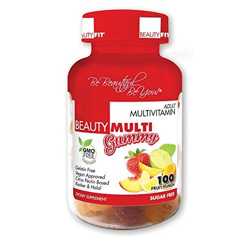 BeautyFit BeautyMulti Vitamin Multivitamin Supplement for Women 100 Delicious Gummies Vegan Approved Gluten Free * Check this awesome product by going to the link at the image.