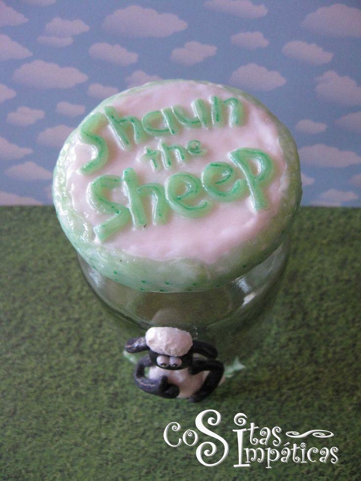 Frasci Shaun the sheep.   Hecho a mano por Cositas Simpáticas ^_^