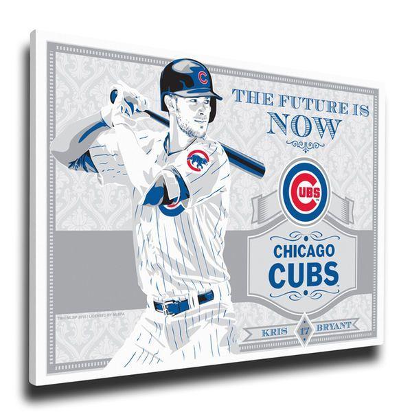 "Chicago Cubs Kris Bryant 19"" x 26"" Propaganda Canvas - $79.99"