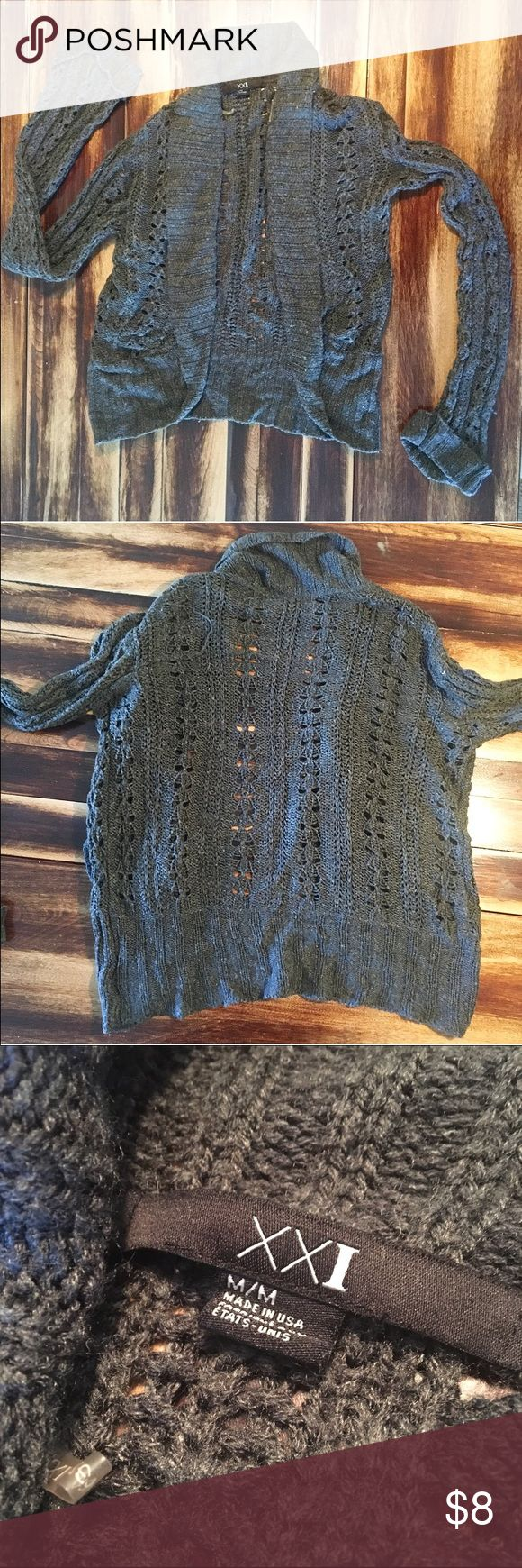Knitted Shrug Lose knit. Folded sleeves 3 inches. Round bottom Forever 21 Sweaters Shrugs & Ponchos