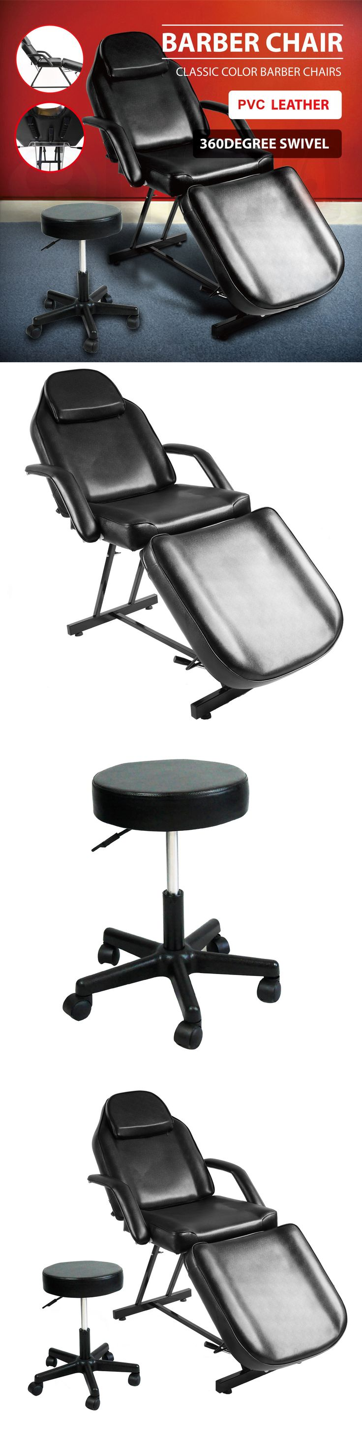 Stylist Stations and Furniture: Hydraulic Massage Bed Chairandstool Beauty Spa Tattoo Salon Equipment Adjustable BUY IT NOW ONLY: $161.9