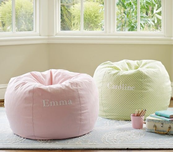 PB Girls Anywhere Collection Lt Or Dk Pink 79 Off Beanbag Slipcover Machine Washable Diameter