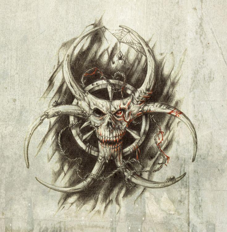 Biohazard Skull by Ridira.deviantart.com on @deviantART