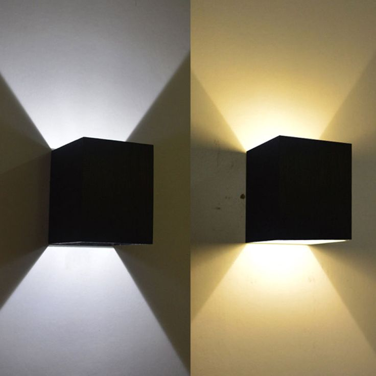 Modern 3W Day WarmWhite LED Square Up Down Wall Lamp Spot Light Sconce Lighting | eBay