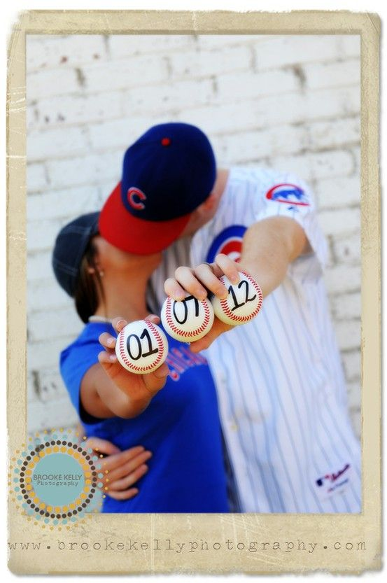 Cute idea!: Engagement Pictures, Save The Date, Engagement Photo, Photo Ideas, Fans, Cute Ideas, Card, Cubs, Gears