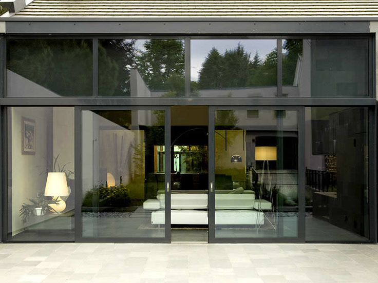 Aluminum double glazed sliding patio doors smart for Double glazed porch doors