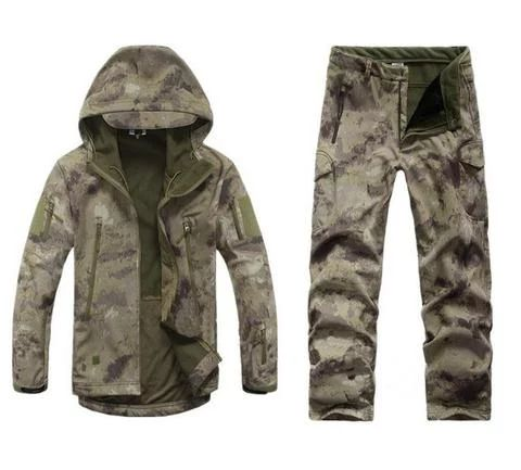 Men Tactical Jacket Army Camo Military Waterproof Hunting Clothes