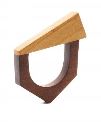 Brown Wood Pembe Bangle Bracelet
