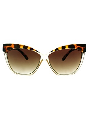 ASOS Cat Eye Sunglasses With Contrast Highbrow