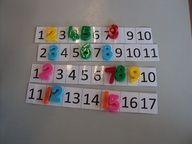 getallenrij oefenen: vul de ontbrekende getallen in.