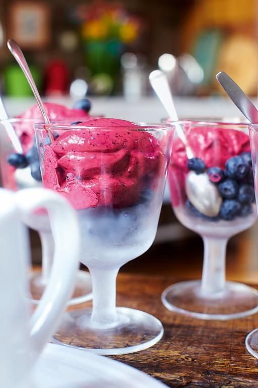 1-Minute Berry Ice Cream - frozen berries, Greek yoghurt, and honey