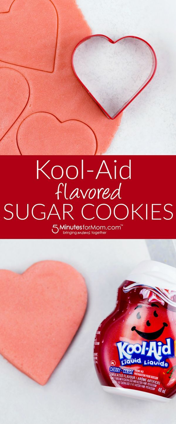 Kool-Aid Sugar Cookies recipe perfect for Valentine's Day or a kid's birthday party