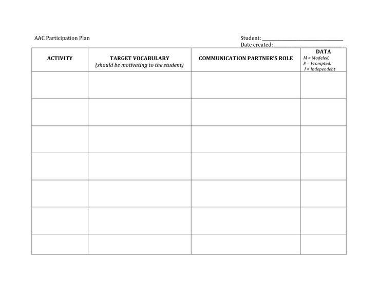 AAC data collection worksheet | autism, nonverbal, and aac ...