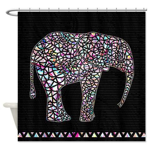 coupon code for free shipping today only blackfriday on elephant shower curtain ornaart