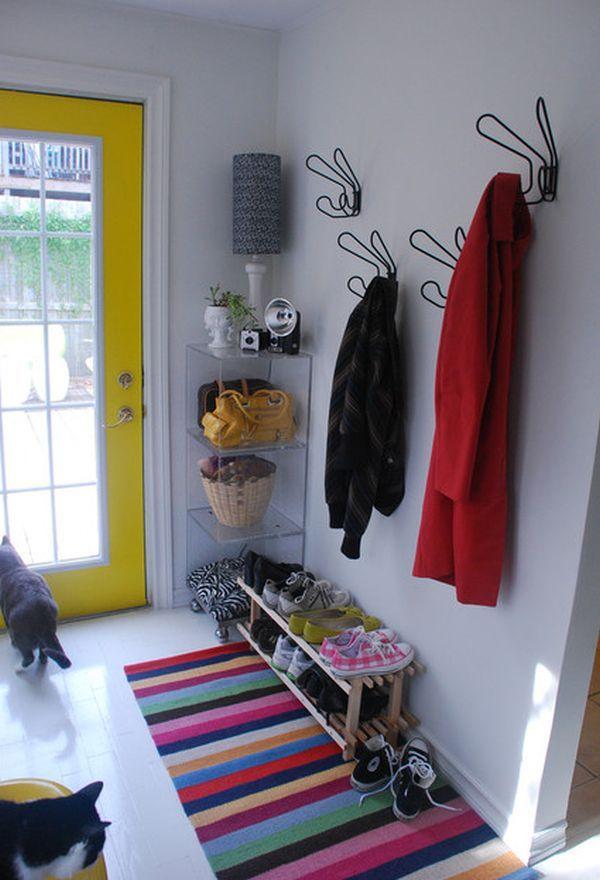 practical and spacesaving entryway hanger design ideas