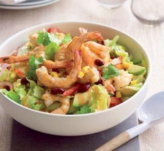 Prawn avo salad