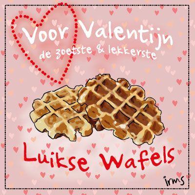 Luikse wafels speciaal voor Valentijn, lekker! Het geïllustreerde recept kan je gratis downloaden op mijn blog.