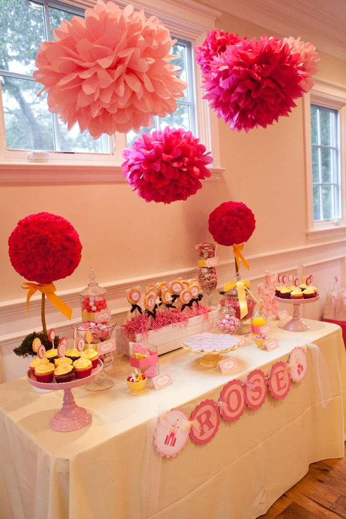 Pink Princess Party: Rose, Party'S, Parties, Pink Princess Party, Party Table, Party Ideas, Baby Shower, Birthday Ideas, Birthday Party