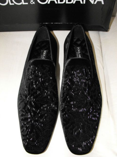 Sequin Dolce Gabbana Mens Loafers Drool Shoes