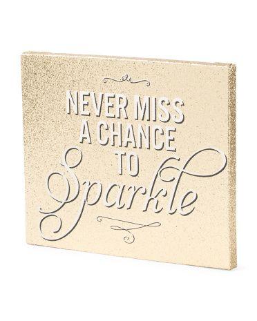 Never+Miss+Glitter+Wall+Art