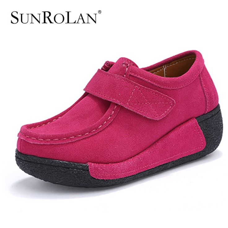 >> Click to Buy << SUNROLAN Summer Women Flat Platform Shoes Fashion Bow Suede Driving Moccasins Slip On Tassel Loafers Women Shape Up Shoes 836 #Affiliate