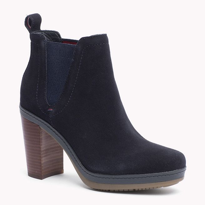 Tommy Hilfiger Suede Ankle Boot - midnight (Blue) - Tommy Hilfiger Boots - main image