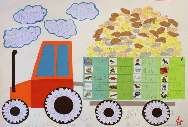 traktor s brambory