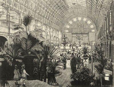Exposição no Palácio de Cristal