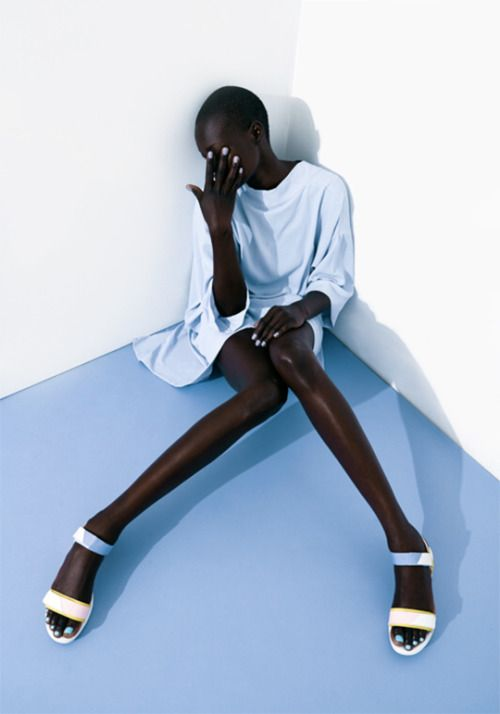 Aluad Deng Anei by Javier Lovera for Bon Bon Magazine