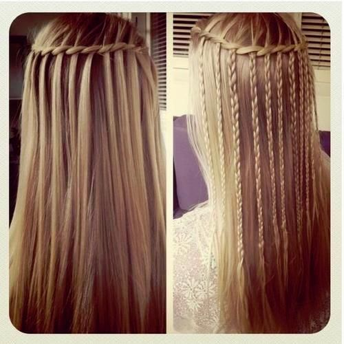 Braided Waterfall Twist. I love this hairstyle so much, the braids give the waterfall a unique touch!
