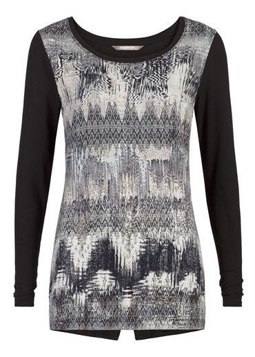 Sandwich Ikat Print T Shirt £69 www.lbdboutique.co.uk style number 1521510145