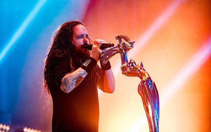 Jonathan Davis of Korn at Wembley Arena