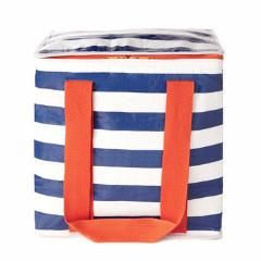 Insulated Tote Navy Stripe