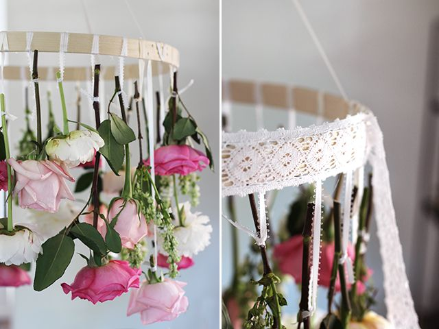 Best Wedding Trends Chandalliers Images On Pinterest - Beautiful diy white flowers chandelier