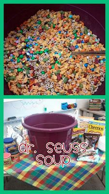 Make Dr Seuss soup with the kids.  (have to check the ingredients but would be a cute snack!) :)