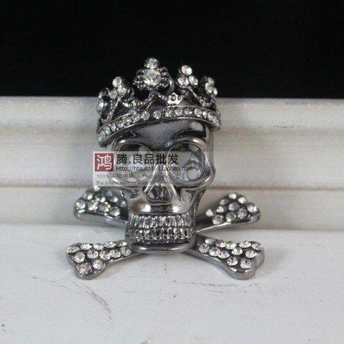 skull and crossbones  pendant great for diy phone bling | chriszcoolstuff - Craft Supplies on ArtFire