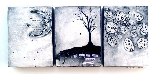 DeeDee Catron - Triptych Finished