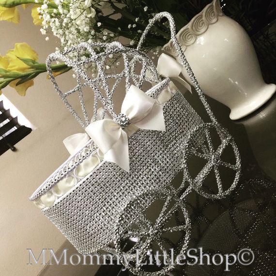 Ivory Elegant Rhinestone Baby Carriage Baby от MMommyLittleShop