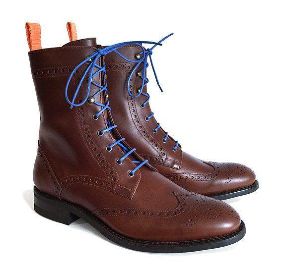 Men's Goodyear Welted Brogue Boot Cognac – Brodawka & Friends