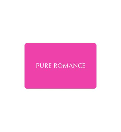 Pure Romance eGift Card Electronic Gift Card Looking for a unique gift idea? Send an electronic gift card, and let them go shopping! Gift cards can be used as payment on my Pure Romance website. Give in an instant. Redeem online any time! Its a sure winner!!