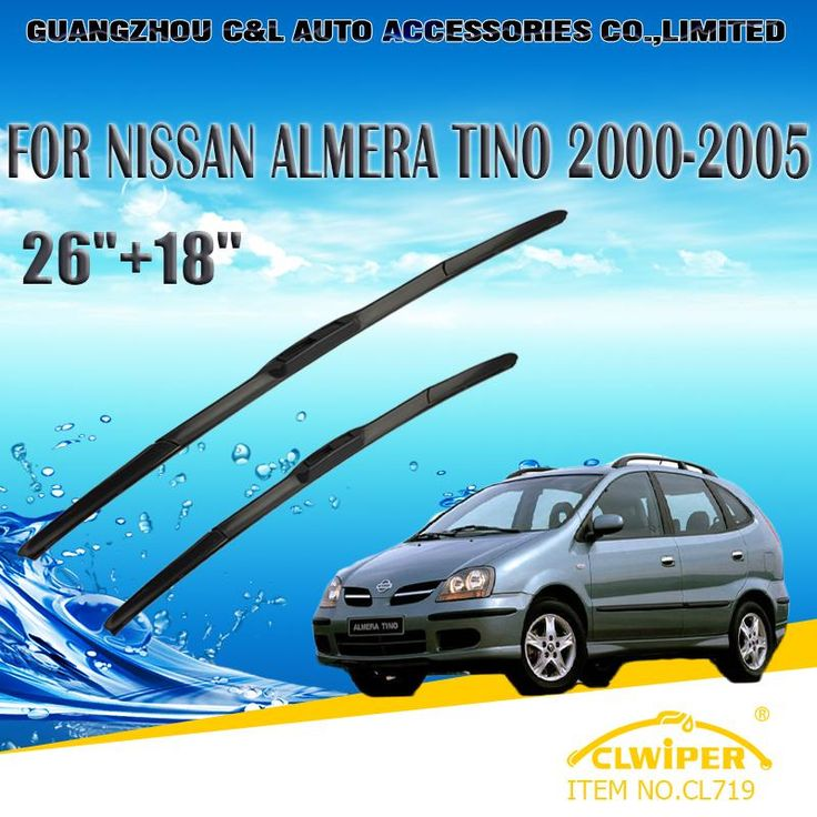 "[Visit to Buy] Wiper Blades For NISSAN ALMERA TINO(2000-2005) 2001 2002 2003 2004 Car Windscreen Windshield Wiper Blade 26""+18"" Cars styling #Advertisement"