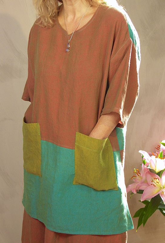 Tucker Top £215, in linen and various colours.