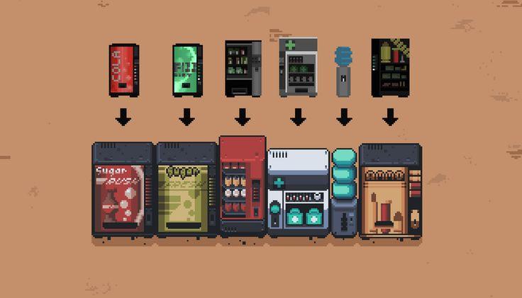 OC Vending Machines (And Progress!) : PixelArt | Pixel ...