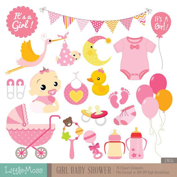 girl baby shower digital clipart bases para empezar baby girl shower invitation clipart baby shower boy or girl clipart