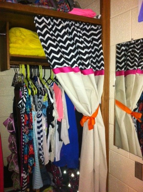 Curtain For Dorm Closet Dorm Room Ideas Pinterest