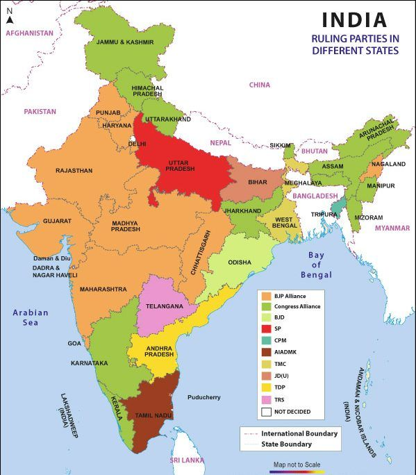 India Map Different States India In 2019 India Map States Of