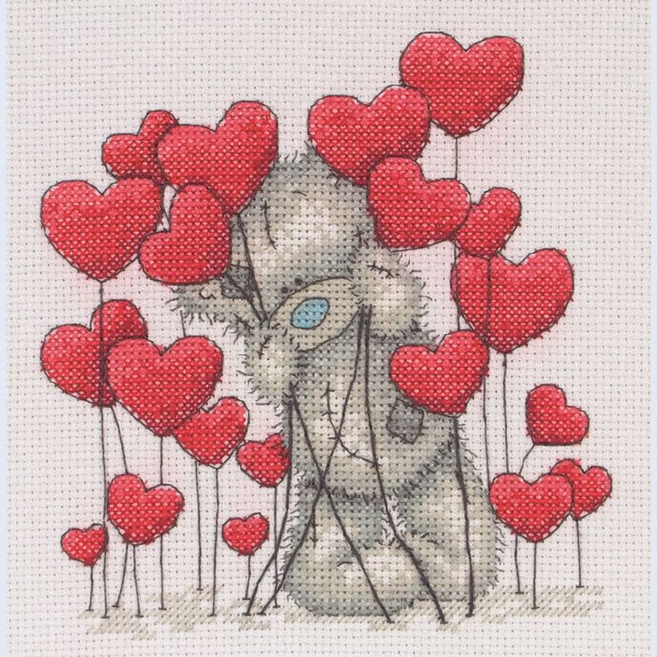 Tatty Teddy Hearts - Me to You - counted cross stitch kit Coats Crafts