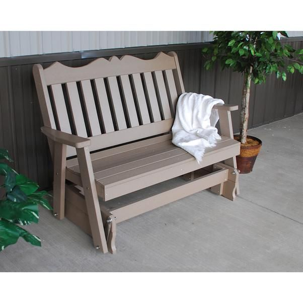A L Furniture Company Royal English Recycled Plastic 4ft Glider Chair Lead Time To Ship 3 Weeks In 2020 Outdoor Glider Furniture Plastic Furniture